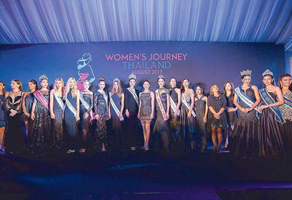 International celebrities, beauty queens and social media influencers lend star power to the Women's Journey Thailand 2017 Campaign launch at the Nai Lert Heritage House in Bangkok