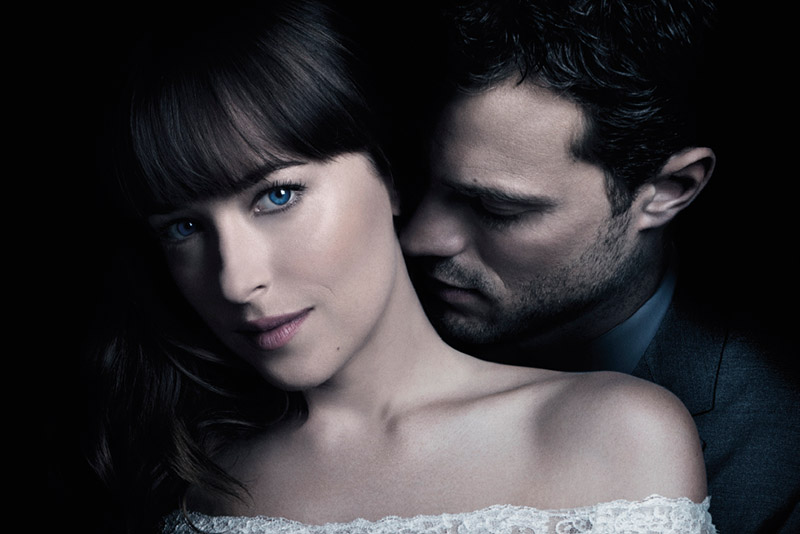 "Jamie Dornan and Dakota Johnson return as Christian Grey and Anastasia Steele in ""Fifty Shades Freed."""