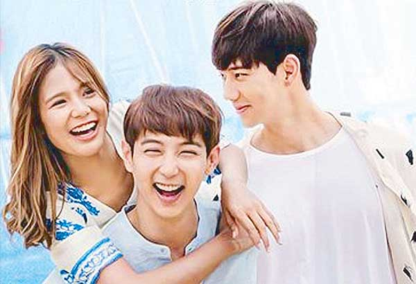Devon gets along well with her two Korean leading men Jin Ju-Hyung and Hyun Woo in You With Me that is set to open tomorrow, Sept. 27, in theaters
