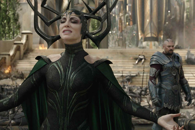 "Academy Award-winning actress Cate Blanchett plays Hela in ""Thor: Ragnarok."" Photo release"