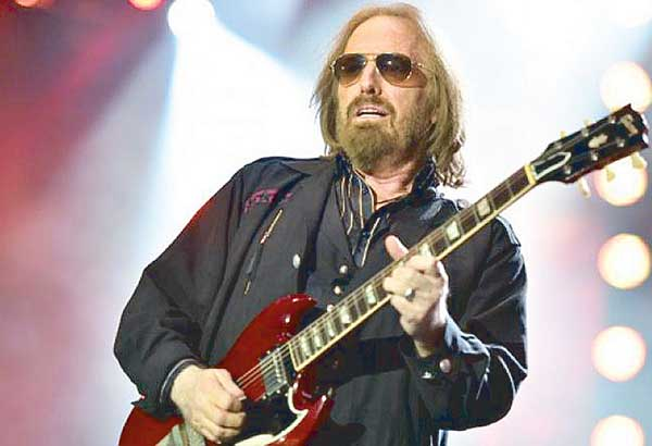 Legendary rocker Tom Petty succumbed to a heart attack at the UCLA Medical Center in Los Angeles last Oct. 2. He was 66. —AFP photo