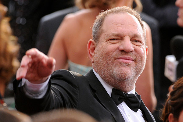 In this Feb. 22, 2015 file photo, Harvey Weinstein arrives at the Oscars at the Dolby Theatre in Los Angeles. On Saturday, Oct. 14, 2016, the Academy of Motion Picture Arts and Sciences revoked Weinstein's membership. The decision, reached Saturday in an emergency session, comes in the wake of recent reports by The New York Times and The New Yorker magazine that revealed sexual harassment and rape allegations against him going back decades. Photo by Vince Bucci/Invision/AP, File
