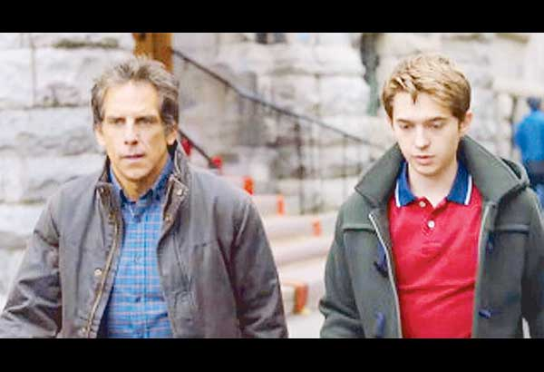 Ben Stiller (left) and Austin Abrams as father and son in the film