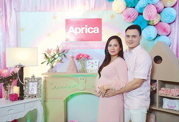 Patrick Garcia and wife Nikka Martinez-Garcia during the recent baby shower hosted by Japanese stroller brand Aprica…— Photos courtesy of Aprica