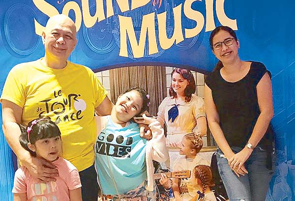 The author with wife Mady and kids at The Theatre at Solaire for Sound of Music