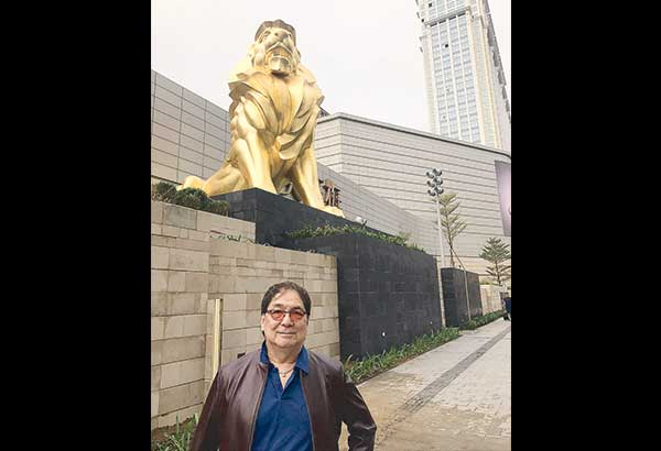 THE LIONS and the new pride of Cotai — The MGM Cotai. It becomes a gigantic jewelry box sparkling brilliantly at night.