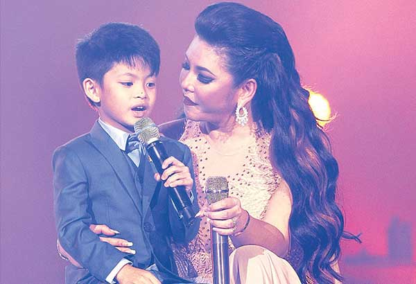 Regine Velasquez-Alcasid sings I Can from her film Do Re Mi with son, Nate, a very poised six year old