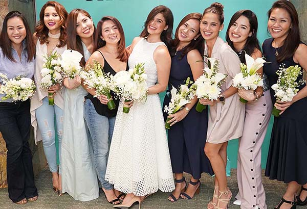 Anne Curtis (center) shares photos of her exclusive bachelorette party. Rustan's/Released