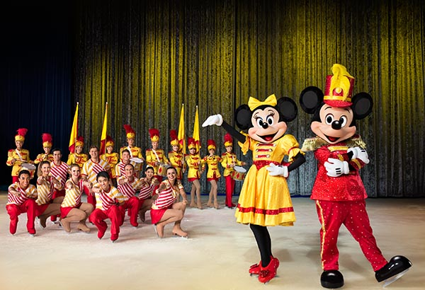 """Mouse-ter"" of ceremonies Mickey Mouse, sweetheart Minnie Mouse, Donald Duck and Goofy take to the ice with their friends from beloved Disney movies that span decades."