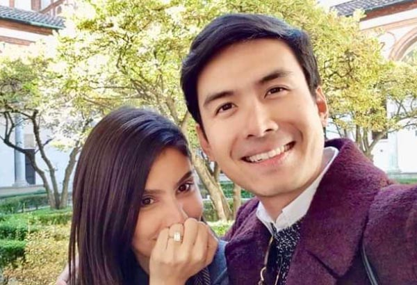 Engaged couple Christian Bautista and Kat Ramnani in Italy. Instagram/Christian Bautista