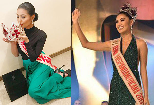 Teresita Ssen Lacsamana Marquez, Winwyn for short, scores a big first by being the first Filipina (and from Asia) to compete and win in the Latina-dominated 2017 Reina HispanoAmericana in Bolivia.