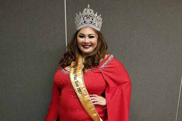 Cebuana beauty Jodel Mesina is the new Miss Top of the World Plus Size. Mrs/Miss Top of the Wold Plus Size 2017/Facebook