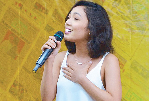 Jona (formerly known by her real full name Jonalyn Viray) gives a roof-shattering birit performance during Philippine STAR's 31st anniversary celebration last July, proving true to her 'title' as Birit Queen.— Photos by Ver Paulino