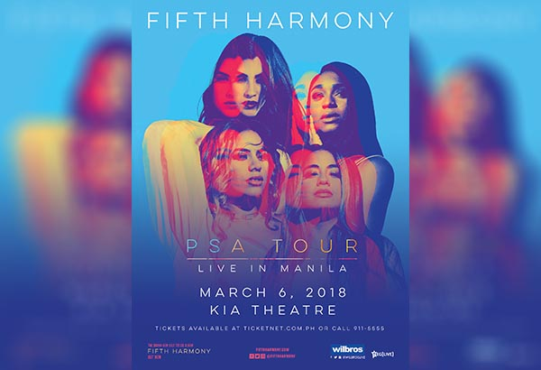 Tickets forFifth Harmony's 2018 concert in Manila are now on sale via TicketNet.com.ph.