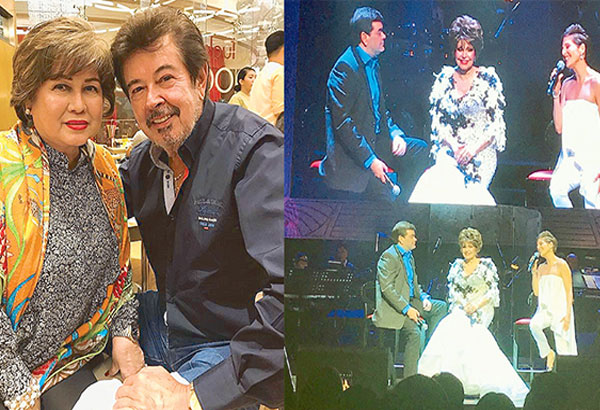 Pilita Corrales in a trio of Ugoy ng Duyan with Ramon Christopher Gutierrez (her son by Eddie Gutierrez, above, with wife Annabelle Rama) and Jackielou Blanco (her daughter by first husband Gonzalo Blanco)…