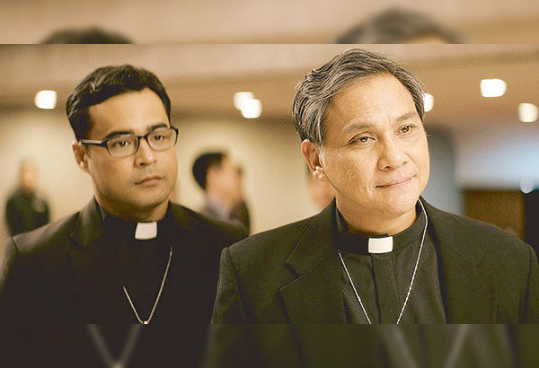 As the crusading padres, Nonie Buencamino (right) and Sid Lucero deliver riveting performances in the film.