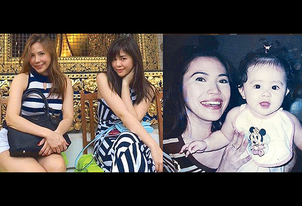 Janella Salvador with her mom Jenine Desiderio in one of their trips abroad. right: Janella as a baby. — Photos from Jenine Desiderio's Instagram account