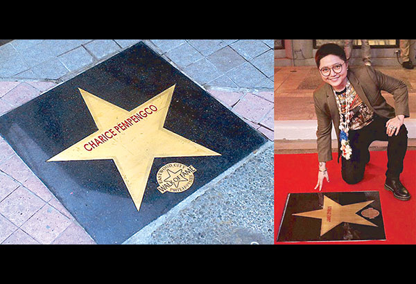 One star for Charice (left) and another star for Jake Zyrus