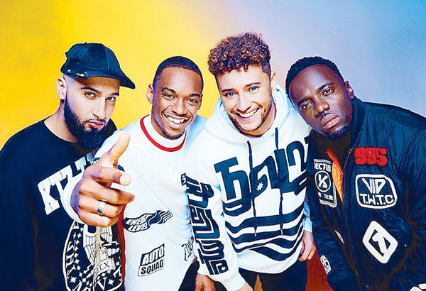 Rak Su, a four-man, R&B band from Watford, charted its historic win in the British singing competition. —Photo from RakSuMusic's Twitter account