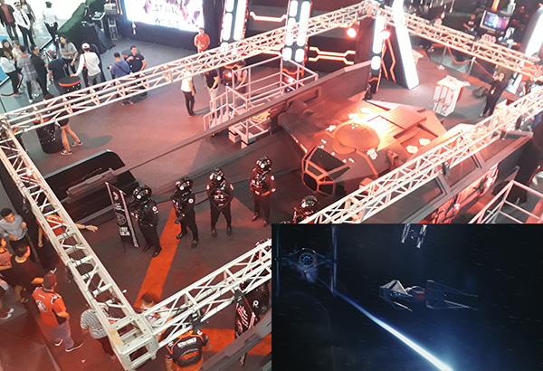 The spaceship, The Tie Silencer, is the angular fighter of the film's chief villain, Kylo Ren. The replica will be on display until January 8. Philstar.com/Deni Rose M. Afinidad-Bernardo