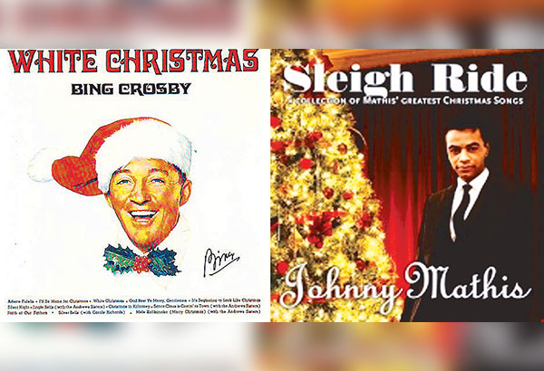 Bing Crosby introduces White Christmas in the movie Holiday Inn; Johnny Mathis sings Sleigh Ride
