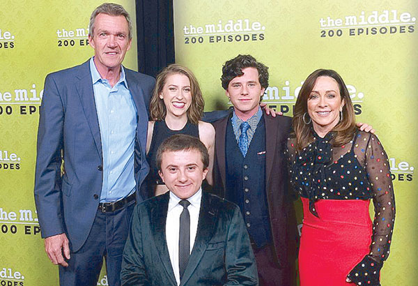 The Middle stars Neil Flynn, Eden Sher, Atticus Shaffer, Charlie McDermott and Patricia Heaton