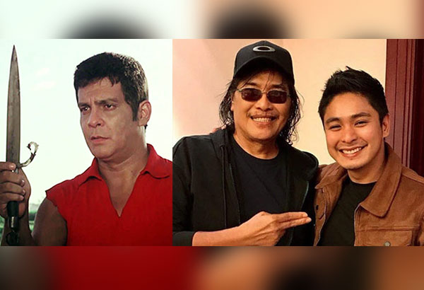 Carlo J. Caparas, the creator of the iconic Panday character, with Coco Martin: In some scenes, Coco reminds me of FPJ (far left)