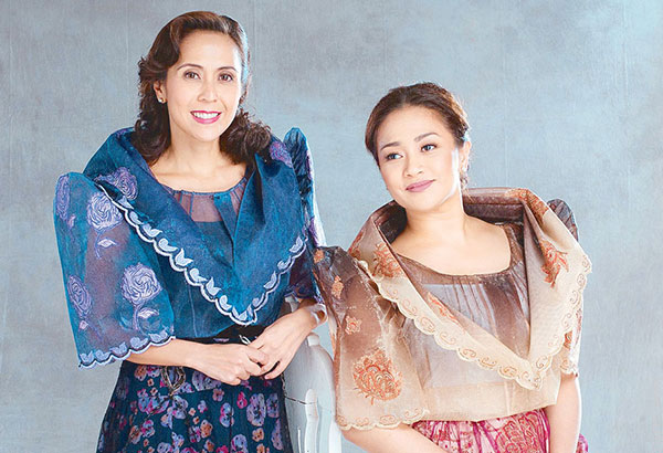 In Ang Larawan, the musical version of Nick Joaquin's Portrait of the Artist as Filipino, Rachel Alejandro (left) and Joanna Ampil flesh out the iconic sisters Paula and Candida with a new touch