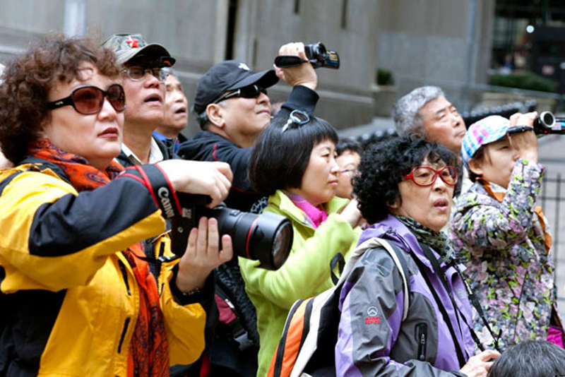 Chinese visitors topped tourist spending last year.