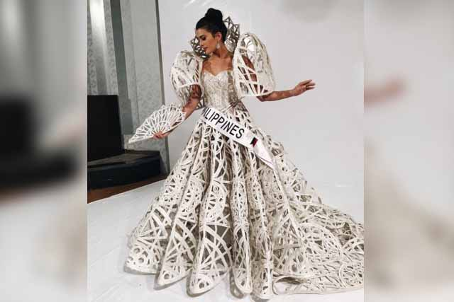 Wearing her favorite designer's Filipiniana, Philippine bet to Miss Intercontinental pageant Katarina Sonja Rodriguez glows in Francis Libiran national costume. Instagram/Katarina Rodriguez