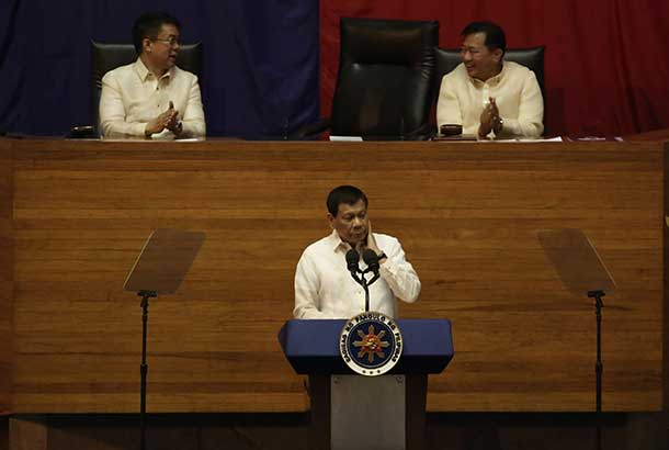 "During his second State of the Nation Address on Monday, July 24, President Rodrigo Duterte warned mining companies that he would tax them ""to death"" unless they restore the communities of mining sites. File"