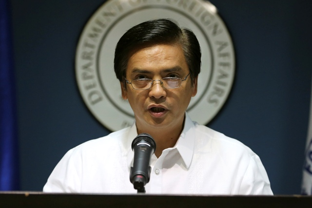 Department of Foreign Affairs Assistant Secretary Charles Jose says President Rodrigo Duterte will be prepared to discuss the South China Sea issue. Philstar.com/Aaron Favila, file