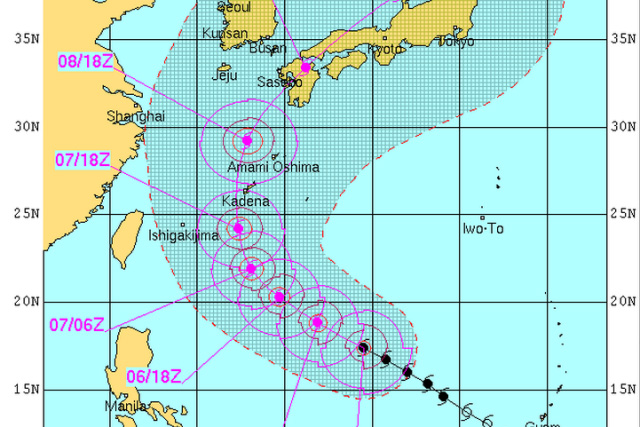 Florita To Affect Disputed Sea US Military Bases Headlines - Japan map us navy bases