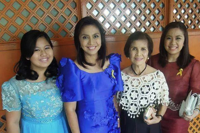 Camarines Sur Rep. Leni Robredo (second from left) attends President Benigno Aquino III's State of the Nation Address on Monday, July 28, 2014. Robredo Official Facebook