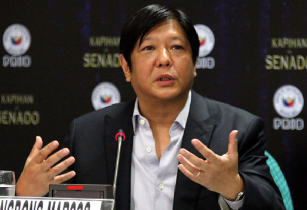 "Senador Ferdinand ""Bongbong"" Marcos Senate PRIB/Cesar Tomambo"