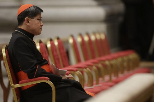 """I hope that the next or those who will inherit (the government) will also strive (to address the country's problems),"" Tagle said in the CBCPNews, the official news service provider of the Catholic Bishops' Conference of the Philippines (CBCP). AP file"