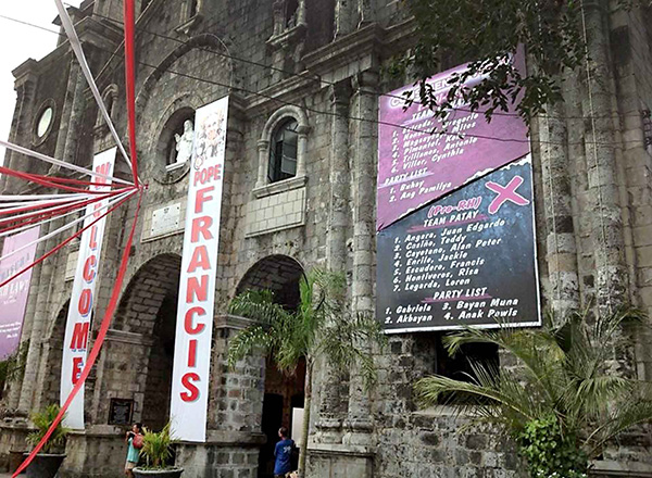 As what the diocese of Bacolod did to the Reproductive Health (RH) supporters, Larida said they would also hang streamers to inform the public of the local officials who voted in favor of legalized gambling. Danny Dangcalan/Philstar.com/File