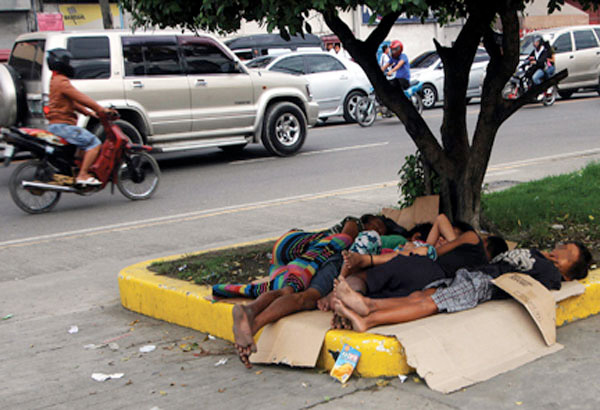 File photo of street children in Manila.