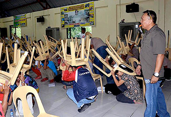 The first simultaneous quake drill, joined by an estimated 6.5 million people, was recently held in Metro Manila last July. File photo