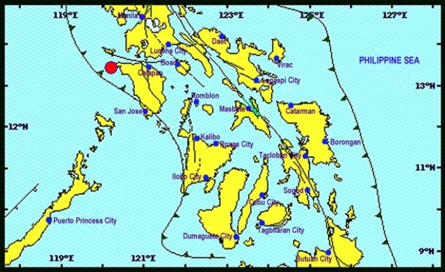 A magnitude 4.3 quake located in Paluan, Occidental Mindoro was felt at intensity III in Tagaytay City. Phivolcs