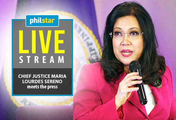 Chief Justice Maria Lourdes Sereno will deliver her annual report on the developments in the judiciary.