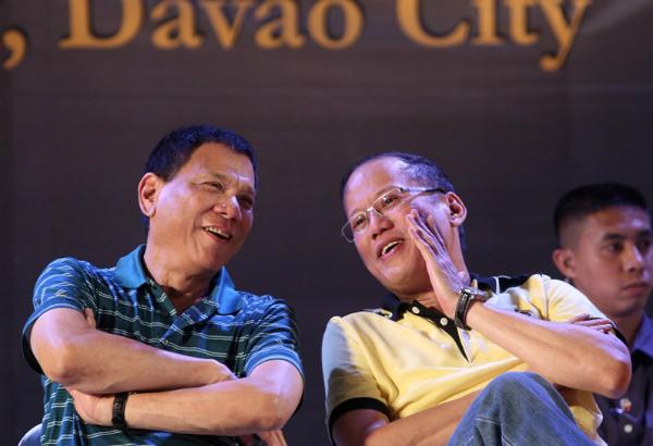 Resulta ng larawan para sa pnoy in davao dilawan