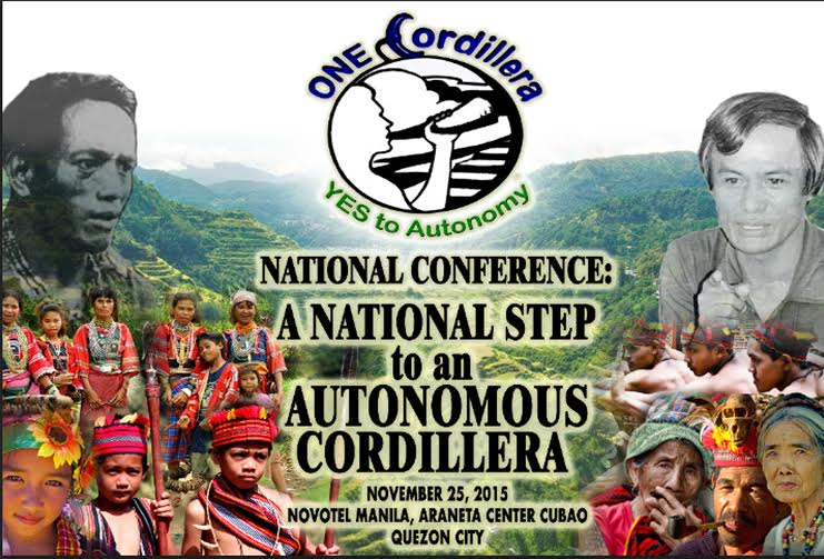 """""""The National Conference: A National Step to an Autonomous Cordillera"""" that will bring the advocacy of Cordillera to the national level will be held in Quezon City. RDC-CAR/Released"""