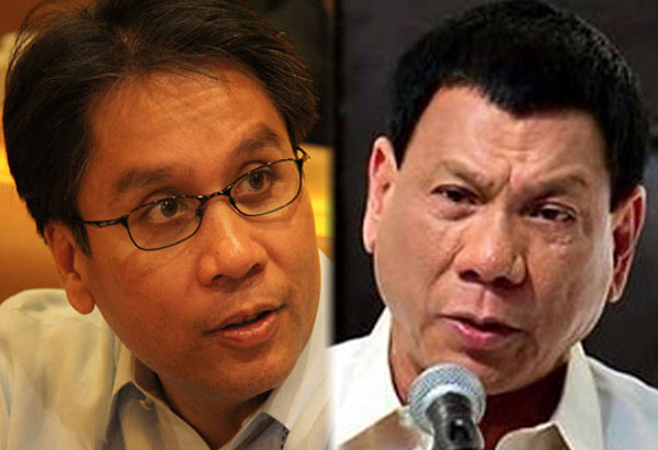 """""""You can run, Mayor Duterte, but you cannot hide from the truth. You can use all the legal maneuverings to sidestep the issue but the truth will come out. The Filipino nation will not go for a liar and a thief,"""" Mar Roxas said in a press briefing at the LP headquarters in Quezon City. Philstar.com/File photos"""