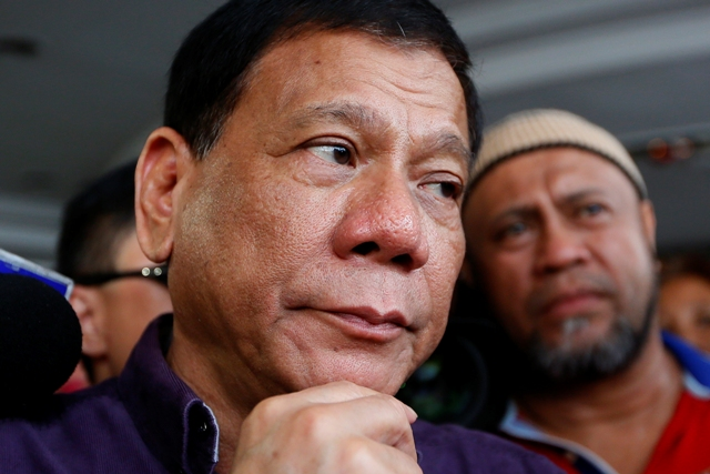 President-elect Rodrigo Duterte is looking at implementing a nationwide liquor ban from 1 a.m. to 6 a.m. AP/Bullit Marquez, File photo