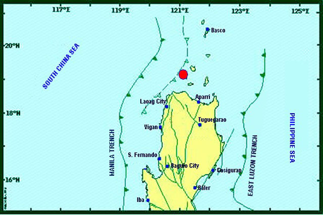A magnitude 5 earthquake that jolted Cagayan on Monday evening was felt in various intensities in Cagayan, Ilocos Norte and Ilocos Sur. Phivolcs