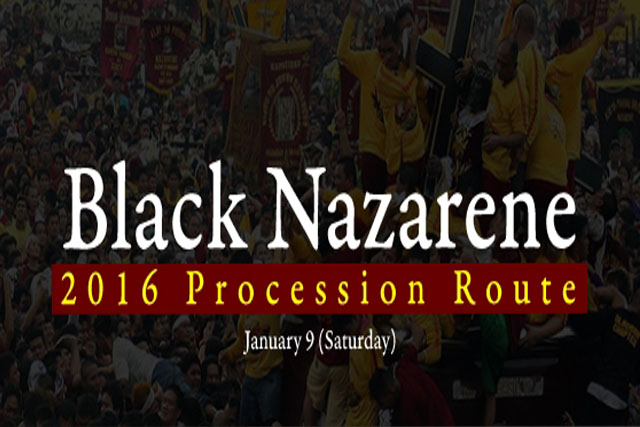 View the complete list of Black Nazarene's procession route for January 9. Philstar.com/Jonathan Asuncion