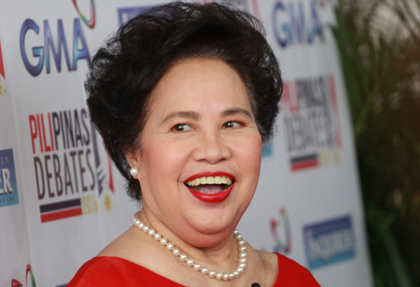 """Presidential candidate Miriam Defensor-Santiagoremains optimistic on her chances in the presidential race despite the """"commercial survey firms,"""" which she said were in a conspiracy with her rivals to force her to withdraw.Philstar.com/AJ Bolando, file"""