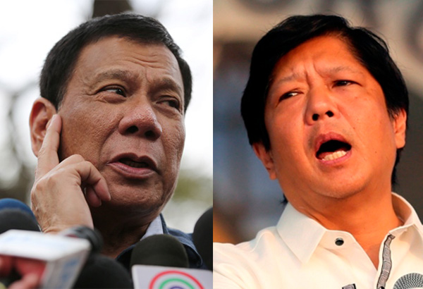 "There have been speculations that President-elect Rodrigo Duterte will give Sen. Ferdinand ""Bongbong"" Marcos Jr. a seat in his Cabinet. AP/Aaron Favila, file"