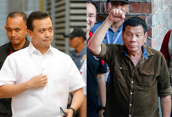 "President Rodrigo Duterte's dinner invitation to Vice President Leni Robredo and her children could be a trap and a tactic to ""neutralize"" Robredo and evade controversies hounding his nine-month-old administration, Sen. Antonio Trillanes IV warned yesterday. Philstar.com/Efigenio Toledo IV, File"
